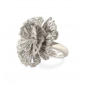 Silver Geneva Lace Flower Stella & Dot Ring